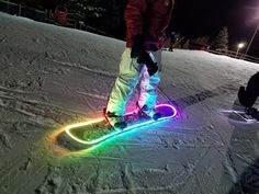 Keep shredding long after the sun goes down by outfitting your board with this LED snowboard lighting kit. The kit comes with over 16 feet of high quality battery powered LED strips that you can set to dozens of color combinations using a handy remote. Snowboarding Style, Ski And Snowboard, Snowboarding Quotes, Snowboarding Women, Snowboarding Tattoo, Snowboard Design, Winter Hiking, Winter Fun, Enjoy The Ride