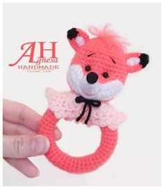 CROCHET  Baby rattle FOX