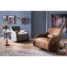 Poltrona a dondolo Swing Ritmo vintage eco - KARE Design Cozy Living, Home And Living, Living Room, Kare Design, Interior Inspiration, Room Inspiration, New Furniture, Furniture Design, Cosy Sofa