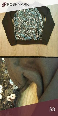 Brown Crew Neck Sweater w/ sequins Fair condition. Some pilling. Forever 21 Sweaters Crew & Scoop Necks