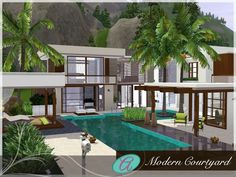 modern luxurious villa barova by autaki sims 3 downloads cc
