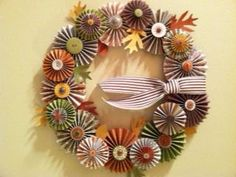 Autumn Wreath by crowcupcake - Cards and Paper Crafts at Splitcoaststampers