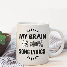 Song lyrics mug sarcastic coffee mug mug with quote unique