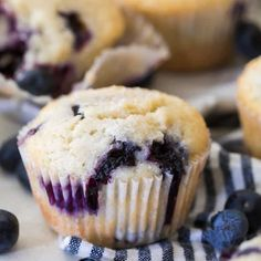 The Best Blueberry Muffins. The Best Blueberry Muffins Recipes Soft and fluffy, studded with sweet plump blueberries and slightly sugared tops, these are my favorite blueberry . Best Banana Muffin Recipe, Banana Bread Recipes, Muffin Recipes, Cake Recipes, Yummy Recipes, Dessert Recipes, Healthy Recipes, Blueberry Muffins From Scratch, Homemade Blueberry Muffins