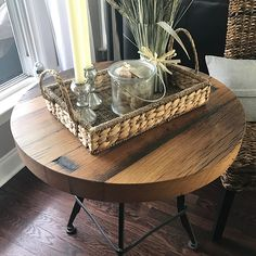 This beautiful reclaimed wood table was finished with our Waterlox Satin Urethane.