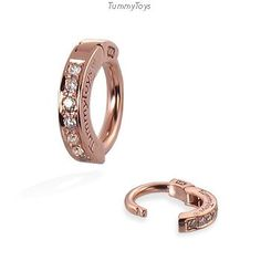 Sold 14K Rose Gold 7 Pave Set Diamond Belly Button Ring Exclusively by TummyToys (17001) by TummyToys on Etsy https://www.etsy.com/listing/163828840/sold-14k-rose-gold-7-pave-set-diamond