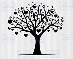 Beautiful vector design of a tree with hearts, perfect to make a family tree design. The svg and clipart bundle is great to make anniversary gifts or Mother's day gifts. Make a family tree home decor. Cut file and png files included. Use with silhouette cameo or cricut explore.