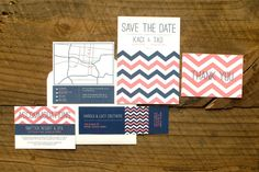 Flat & Letterpress Wedding Invitations | Wednesday  | Available at Rock Paper Scissors in Ann Arbor, Michigan!