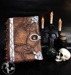 Hocus Pocus Spell-book Cake! #hocuspocus #spellbook #cake #halloween #thecakemomco #book #fondant