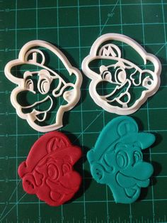Mario and Luigi Cookie Cutters Baking by jenuinecraftsandmore
