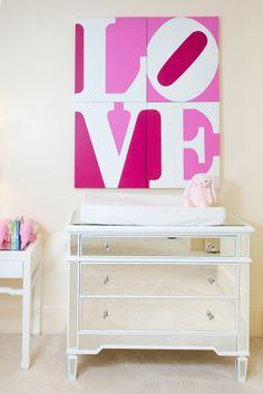 Project Nursery - Mirrored Nursery Dresser
