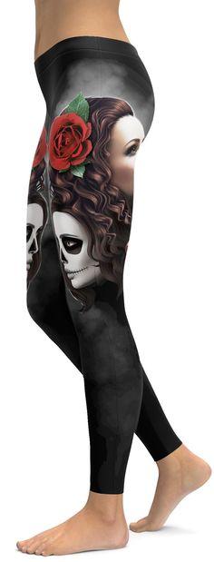 Sugar Skull Good girl / Bad girl Leggings