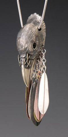 Raven and Feather Jewelry, Handcrafted Silver Jewelry, raven totem