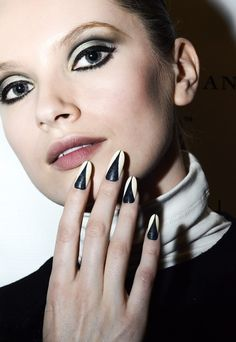 How to do the faux leather nails from Lucian Matis F/W '13: http://beautyeditor.ca/2013/10/07/leather-nail-art-tutorial/
