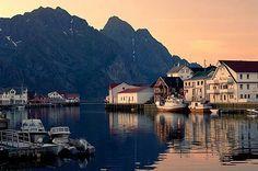 Henningsver, Norway, fishing village