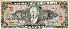 10 CRUZEIROS BRAZILIAN BANKNOTE.... I love baknotes... And i want to collect them...