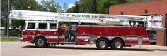 Wood River Fire Department - Aerial Truck 4230  #Setcom #Fire http://setcomcorp.com/intercoms.html