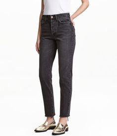 Vintage High Cropped Jeans | Denim negro | Mujer | H&M CO