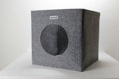 Felt cat cave fits into Ikea Expedit and Kallax, felt cat bed, cat house, pet bed, small puppy bed, pet furniture by stichhaltig on Etsy https://www.etsy.com/listing/188482373/felt-cat-cave-fits-into-ikea-expedit-and