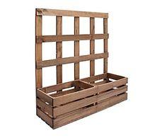 Jardinera enredadera de madera de pino - envejecido