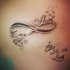 Un tatouage en couple: un tatouage d'amour infini photos) - Tatouage pour Femme - Tatouage Cute Tattoos For Women, Tattoos With Kids Names, Mother Daughter Tattoos, Tattoos For Daughters, Couple Tattoos, Love Tattoos, Infinite Love Tattoo, Tatouage Amour Éternel, Pale Lips