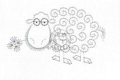 Hilarious Sheep by Sew Cute Cards www.facebook.com/sewcutecards  http://sewcute.storenvy.com
