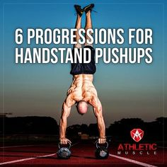Does seeing Handstand Pushups (HSPU) on the WOD make you feel discouraged? Not anymore Athletic Muscle gives 6 exercises to build your strength and conquer HSPU Crossfit Motivation, Crossfit Body, Crossfit Gear, Fitness Workouts, Handstand Progression, Fitness Tips For Men, Calisthenics Workout, Body Weight Training, Handstands
