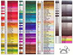 Dina's hand coloured Touch Twin marker chart.