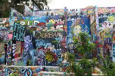 Graffiti Park in Austin, Texas.
