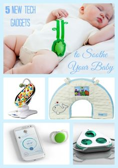 5 innovative baby tech gadgets to soothe your baby during daily routines such as sleep, diaper changes, car rides, and errands.