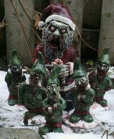 Zombie gnomes, merry christmas!