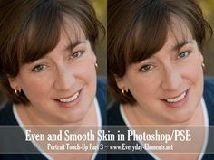 How to even-out and smooth skin in PSE and Photoshop via @amandapadgett