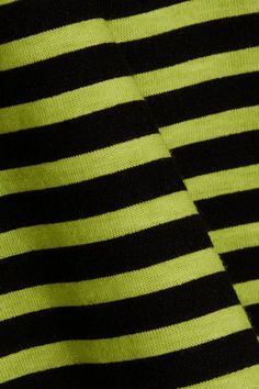 Prada - Striped Cotton-jersey Top - Lime green - small