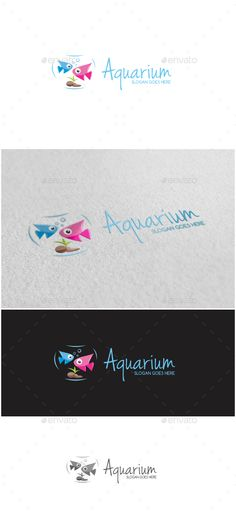 Aquarium Logo, Aquarium Logo -AI and EPS file -CMYK mode -100 vector and resizable -Easy to edit color and text -Aquarium Logo(Color) -Aquarium Logo(Gray) -Free font used(link included in Read Me file)