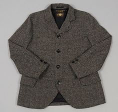 "Freewheelers: ""Fitzgerald"" Jacket, Grey and Green Guncheck"