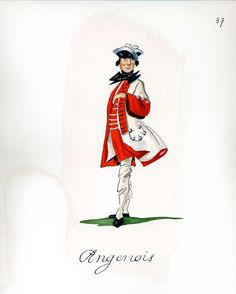 French Army 1735 - Infantry Regiment Agenais, by Gudenus.