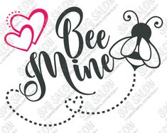 Bee Mine Valentine's Day Cut File in SVG, EPS, DXF, JPEG, and PNG