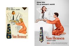 Vintage advertisements are certainly not known for their progressive depictions of gender roles. To show just how absurd they would be by today's standards, visual artist and photographer Eli Rezkallah created a photo series reimagining vintage ads… Vintage Advertisements, Vintage Ads, Gender Roles, Parallel Universe, Its A Mans World, Photo Series, Advertising Campaign, Personal Branding, Hilarious