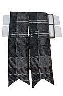 Oban Mist Tartan Kilt Flashes | Price: £10.06
