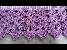 Crochet Edging Tutorial, Crochet Border Patterns, Crochet Stitches, Lily, Blanket, Crochet Dishcloths, Crochet Triangle, Crochet Edging Patterns, Crocheted Baby Afghans