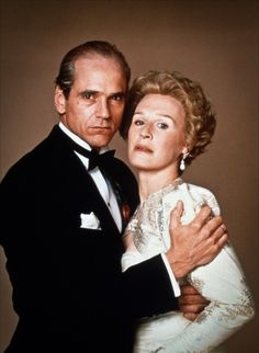"""Jeremy Irons and Glenn Close in """"Reversal of Fortune""""  (1990)   Jeremy Irons - Best Actor Oscar 1990"""