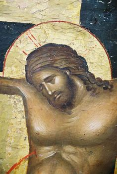 Crucifixion detail-Christ's face and upper torso Religious Images, Religious Icons, Religious Art, Pictures Of Jesus Christ, Jesus Christ Images, Byzantine Icons, Byzantine Art, Anima Christi, Life Of Christ