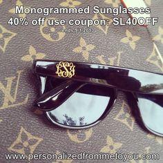 Monogrammed Sunglasses for Bridesmaids