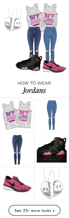 """me and Yolanda"" by puppy-girl4 on Polyvore featuring Topshop and NIKE"