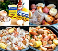 This Slow Cooker Shrimp Boil is a spectacular way to bring new life to weeknight meals and a perfect way to host a casual soiree at home. Healthy Crockpot Recipes, Slow Cooker Recipes, Cooking Recipes, Crockpot Meals, Vegetarian Recipes, Seafood Boil Recipes, Crab Recipes, Seafood Dishes, Crock Pot Shrimp