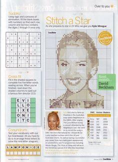 Kylie Minogue Cross Stitch Chart
