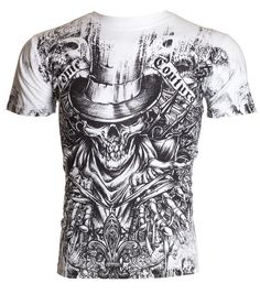 Xtreme Couture AFFLICTION Men T-Shirt OFFERING Skull Tattoo Biker UFC M-4XL $40 #Affliction #GraphicTee