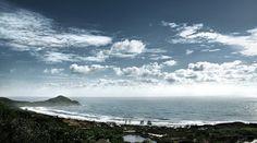 Para quem adora praia, a imagem acima é o retrato mais fiel do paraíso. A fotografia é da Praia do Rosa, um pequeno reduto de surfistas e amantes da natureza no litoral de Santa Catarina.