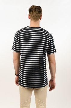 Staple Stripe Tee - Navy/White - BAAM Labs - 3