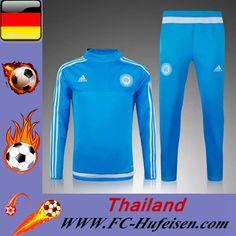 Offizielle Neue Trainingsanzüge Fussball Herren Kits Marseil OM Blau Klar Seson 2015 2016 Günstig Shop
